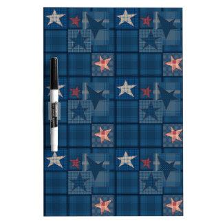 Denim patchwork , denim , stars , blue, stars, jea dry erase board