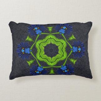 Denim Pillow with Crochet Design