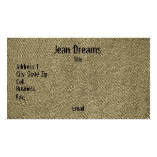 Denim (sepia) Double-Sided standard business cards (Pack of 100)