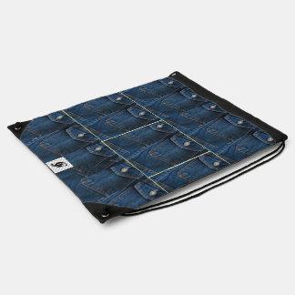 Denim Style: Drawstring Backpack
