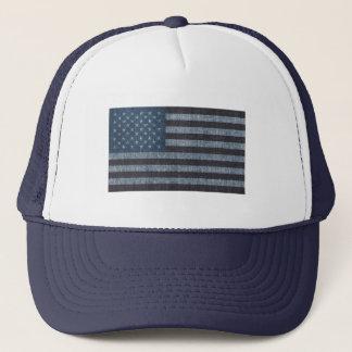Denim USA flag patriotic hat