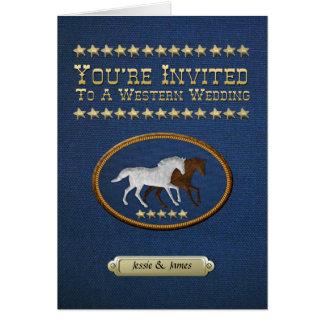 Denim Western Wedding Invitation