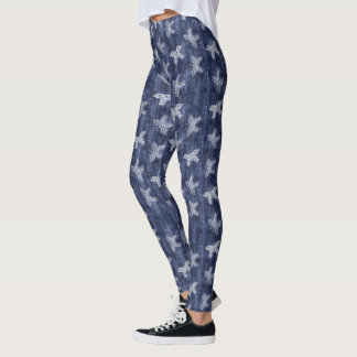 Denims butterfly pattern Leggings