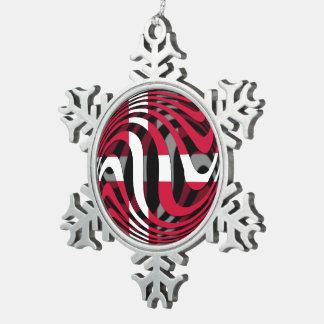 Denmark 1 pewter snowflake ornament