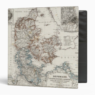 Denmark Atlas Map with 5 inset maps Binder