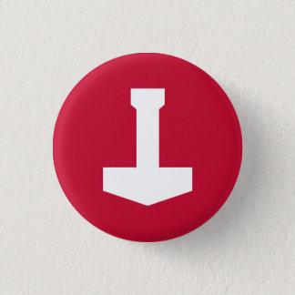 Denmark Badge - Thor's Hammer 1 Inch Round Button