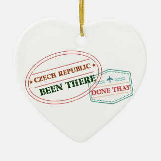 Denmark Been There Done That Ceramic Heart Ornament