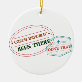 Denmark Been There Done That Round Ceramic Ornament