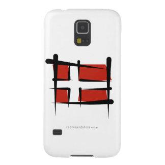 Denmark Brush Flag Case For Galaxy S5