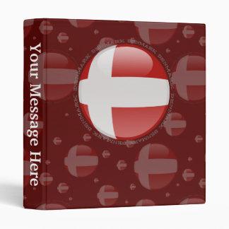 Denmark Bubble Flag Vinyl Binder