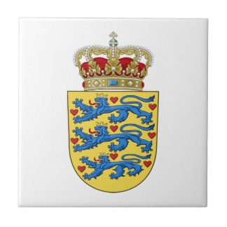 Denmark Coat of Arms Tile