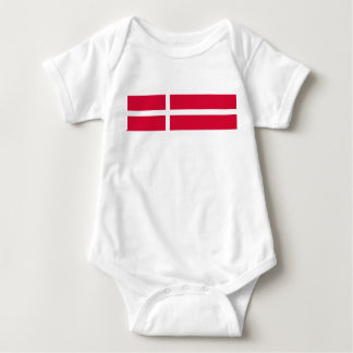 Denmark country flag symbol long baby bodysuit