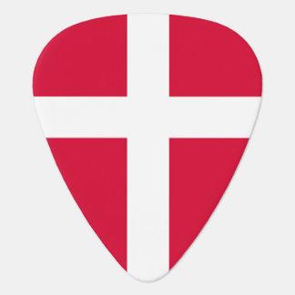 Denmark country flag symbol long guitar pick