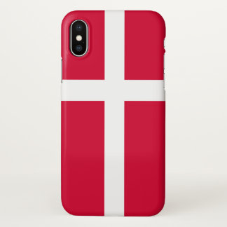 Denmark country flag symbol long iPhone x case