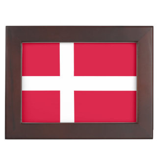 Denmark country flag symbol long keepsake box