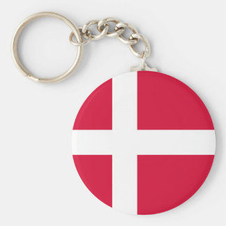 Denmark country flag symbol long keychain