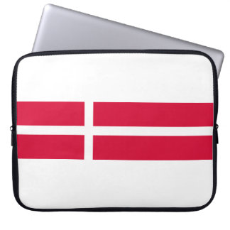 Denmark country flag symbol long laptop sleeve