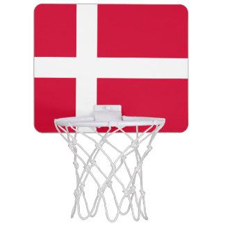 Denmark country flag symbol long mini basketball hoop