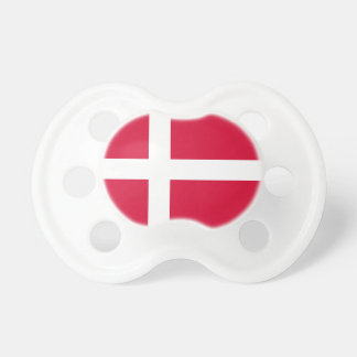 Denmark country flag symbol long pacifier