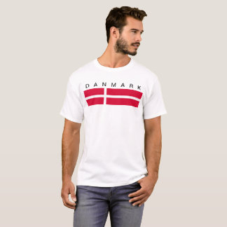 Denmark country flag symbol long T-Shirt