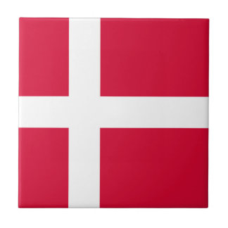 Denmark country flag symbol long tile