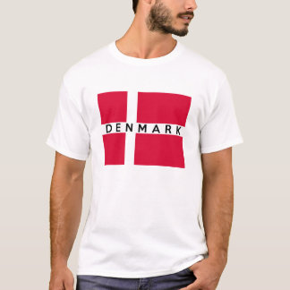 denmark country flag text name T-Shirt