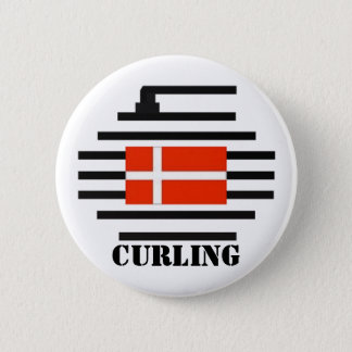 Denmark Curling 2 Inch Round Button