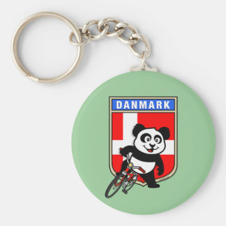 Denmark Cycling Panda Keychain