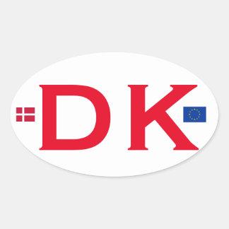 Denmark DK Euro-style Oval Sticker