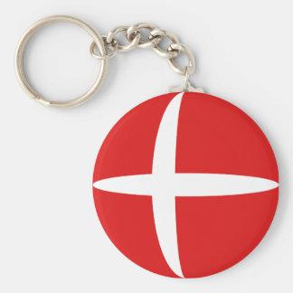 Denmark Fisheye Flag Keychain