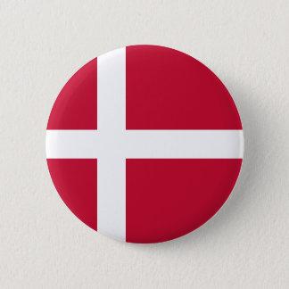 Denmark Flag 2 Inch Round Button
