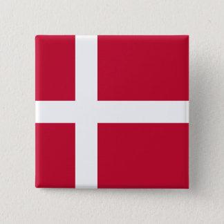 Denmark Flag 2 Inch Square Button
