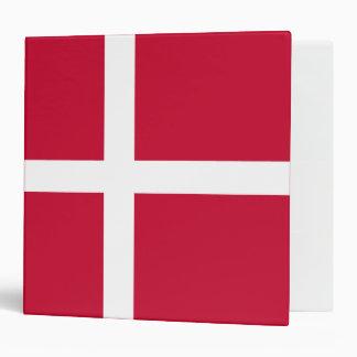 Denmark Flag 3 Ring Binder