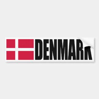 Denmark Flag Bumper Sticker