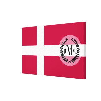 Denmark Flag Canvas Print