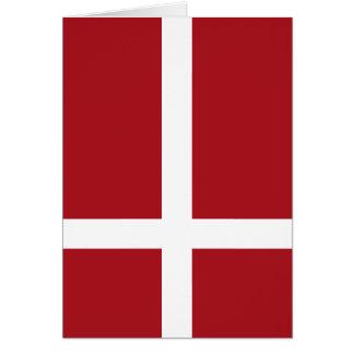 Denmark flag card