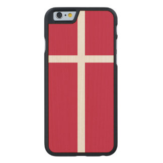Denmark Flag Carved® Maple iPhone 6 Slim Case