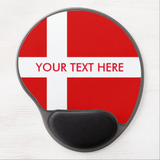 Denmark flag custom gel mouse pad