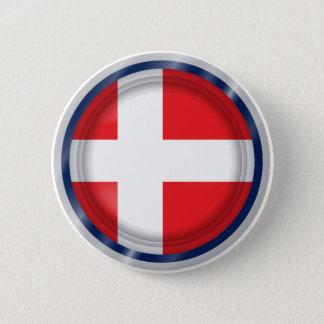 Denmark Flag, danish Colors Button