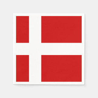Denmark Flag Disposable Napkins