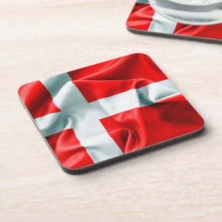 Denmark Flag Drink Coaster