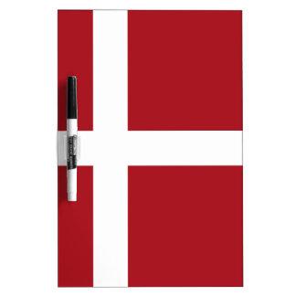 Denmark flag dry erase board