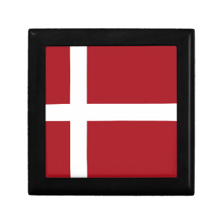 Denmark flag jewelry box