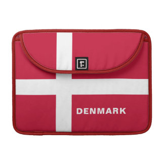 Denmark Flag MacBook Sleeve Pro