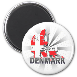Denmark Flag Map 2.0 Magnet