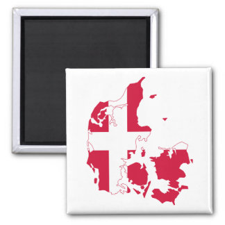 Denmark Flag Map Magnet