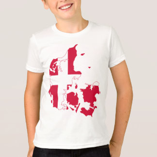 Denmark Flag Map T-Shirt