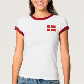 Denmark Flag + Map T-Shirt
