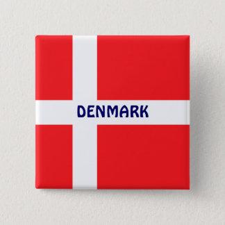 DENMARK: Flag of Denmark 2 Inch Square Button