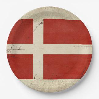 Denmark Flag Paper Plates